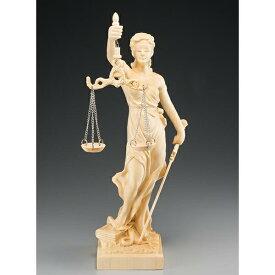 檜一杢彫り 正義の女神テミス像