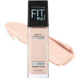 メイベリン フィットミー リキッド ファンデーション 108 明るい肌色 ピンク系