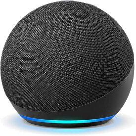 新型 Echo Dot エコードット 第4世代 チャコール スマートスピーカー Amazon アマゾン Alexa アレクサ 時計表示機能無しモデル
