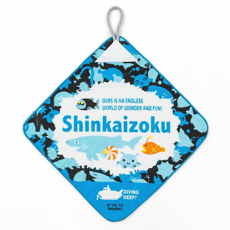 シンカイゾク ループ付きハンドタオル(ロゴ)