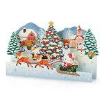 ハローキティ クリスマスカード(そり)