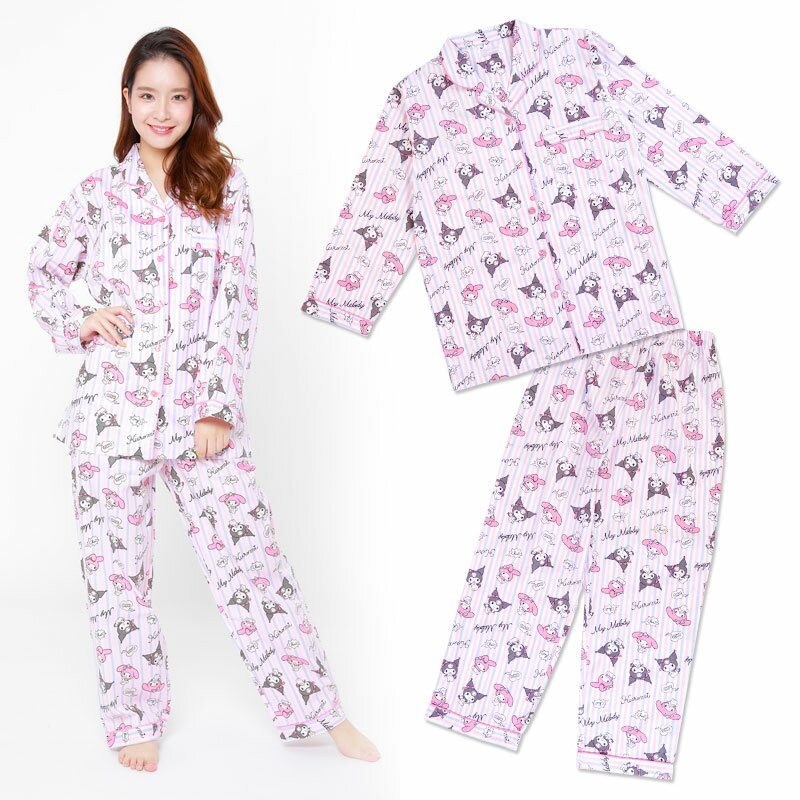 マイメロディ&クロミ シャツパジャマ