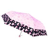 ハローキティ 絵柄が浮き出る折りたたみ傘