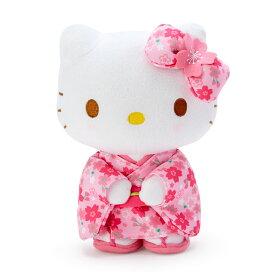 ハローキティ ぬいぐるみ(桜着物)