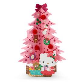 ハローキティ クリスマスライト&メロディカード(ピンクツリー)