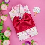 ハローキティ 浴衣と結び帯のセット(桜)