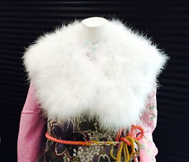 ショール 成人式 振袖 ふりそで 着物 ♪ふあふあ♪ 水鳥ショール 【少々難ありのため大特価商品】