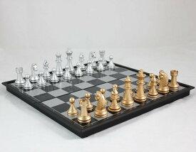 チェス【32×32cm】 折りたたみ 本格サイズ チェスセット マグネット 式 テーブルゲーム