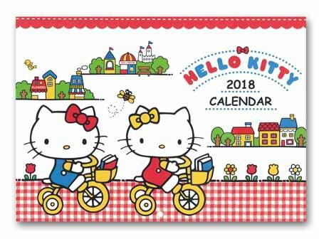 送料無料 キティーちゃん カレンダー 2018年 キティー壁掛けカレンダー ハローキティー