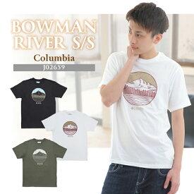 コロンビア メンズ Tシャツ メンズ プリント グラフィック ホワイト ブラック カーキ Columbia BOWMAN RIVER SHORT SLEEVE TEE SHIRTS*