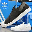 アディダススニーカースーパースタースリッポンメンズレディースadidasSUPERSTARSLIPONUNISEXBZ0111BZ0112ブラックホワイトユニセックス靴シューズ