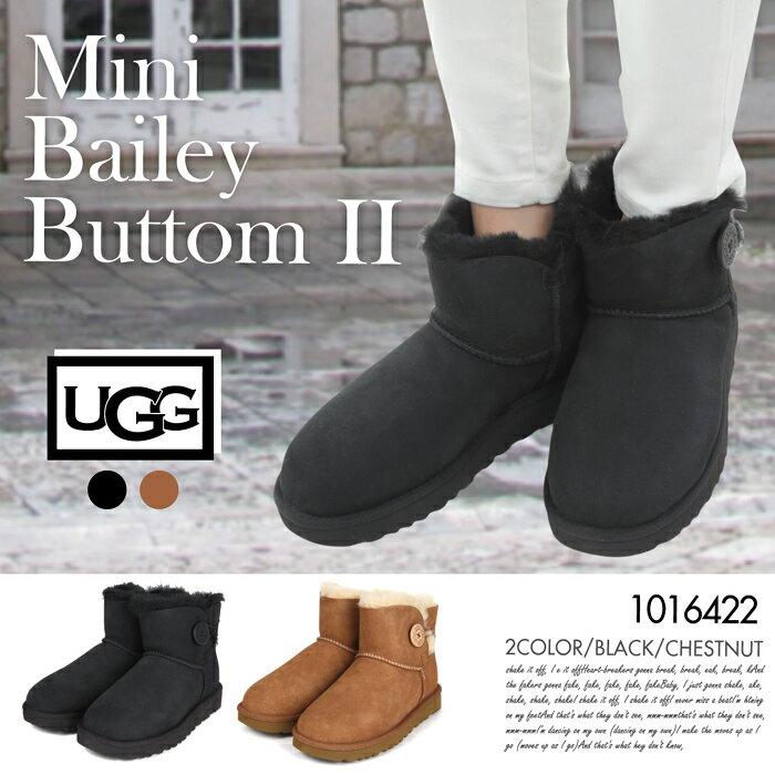 ブーツ アグ ミニベイレーボタン2 レディース UGG Mini Bailey Button II 1016226