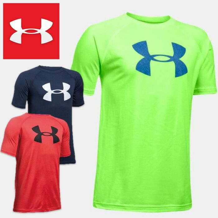 アンダーアーマー 半袖Tシャツ ジュニア UNDER ARMOUR Tech Big Logo Boys Short Sleeve Shirt 1228803