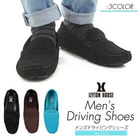 【セール限定!最大3000円OFFクーポン配布中☆】ドライビングシューズ メンズ 靴 スニーカー 紳士 レイトンハウス LEYTON HOUSE MENS DRIVING SHOES ブラック ブラウン