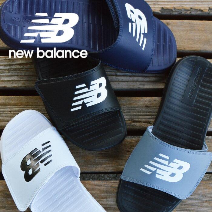 ニューバランス サンダル メンズ レディース newbalance Recovery Slide SD230 スポーツ シャワー ブラック ホワイト グレー ネイビー 黒