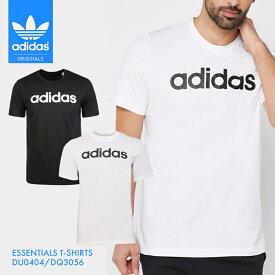 adidas ESSENTIALS T-SHIRTS / アディダス エッセンシャル Tシャツ リニア ロゴ 白 黒 メンズ シンプル トップス インナー シャツ 半袖 シンプル 無地 ブラック ホワイト マーク ロゴ スポーツ トレーニング