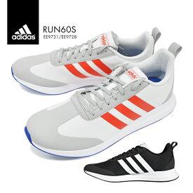 アディダス RUN 60S メンズ 軽量 大きいサイズ スニーカー シューズ 靴 adidas ランニング 運動 スポーツ 通学 通勤 シンプル デザイン あでぃだす EE9731 EE9728