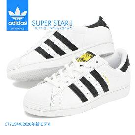 adidas SUPER STAR J アディダス スーパースターJ レディース スニーカー シューズ 靴 ホワイト オリジナルス ジュニア サイズ 子供 黒白 シロ クロ スポーツ カジュアル ファッション 運動 シンプル デザイン 人気