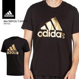 アディダス Tシャツ メンズ BOSロゴ TEE インナー シンプル 半袖 無地 トップス 黒 シャツ ブラック ゴールド ウェア メタリック adidas 運動 スポーツ 大きいサイズ デザイン あでぃだす オリジナルス FN1735*
