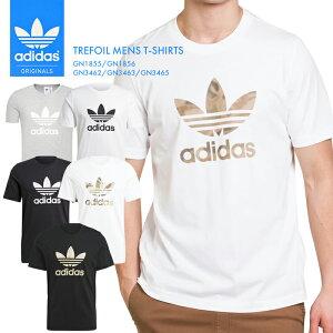 アディダスメンズTシャツトレフォイルTEEインナーシンプル半袖無地白黒ブラックホワイトウェア迷彩adidas運動スポーツ大きいサイズデザインあでぃだすオリジナルスGN1855GN1856GN3462GN3463GN3465*