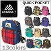 GREGORY QUICK POCKET MD / Gregory quick Pocket pouch medium shoulder bag / wristlet