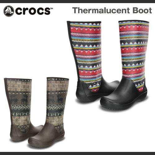 【超目玉 残り僅か!】【レディース】クロックス サーマルーセント ブーツ Crocs Thermalucent Boot ブーツ 長靴 レインブーツ