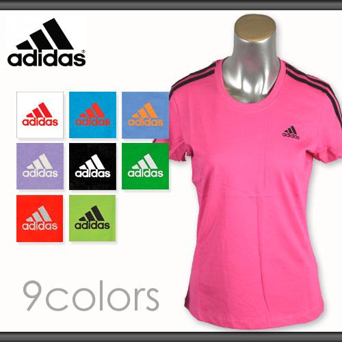 adidas T-SHIRTS アディダス レディースTシャツ 綿100%*