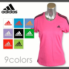 アディダス レディース ロゴ Tシャツ 綿100% adidas T-SHIRTS*