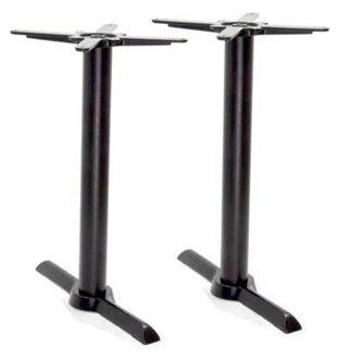 接受供4个人使用的桌子钱十字形底板组装家具桌子脚礼堂桌子饮食底部L550mm/座位330*330/杆H630mm ASHI004SL