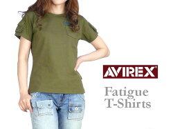 AVIREX(アビレックス)-Lady's-FATIGUET-SHIRTS/ファティーグTシャツ-半袖Tシャツ6223026【smtb-k】【ky】