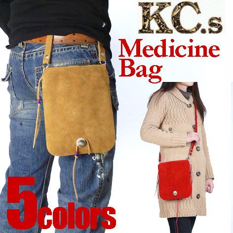 KC'S (ケーシーズ) メディスンバッグ スウェード/Lサイズ KSM004/KSM504 【送料無料】 g-bgプレゼント ギフト