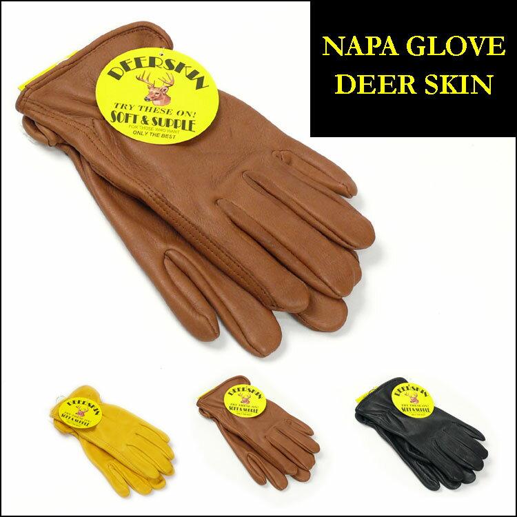 NAPA GLOVE ナパグローブ レザー手袋 DEERSKIN LEATHER GLOVE ディアスキンレーサーグローブ 鹿革 裏地ナシ NAP001 プレゼント ギフト