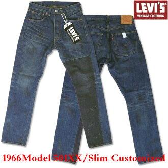 復古 LEVI 的 (李維斯) 501 XX (1966年模型)-苗條定制 / 惹人注目塗層 evd