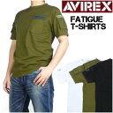 【送料無料】 AVIREX (アビレックス) FATIGUE T-SHIRTS -半袖ファティーグTシャツ- 6123036【smtb-k】【ky】【楽ギフ_包装】プレゼント ギフト