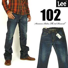 Lee リー メンズ ジーンズ 102 ブーツカット 濃色ユーズドブルー Lee RIDERS AMERICAN RIDERS 日本製 LM5102-526