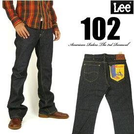 Lee リー メンズ ジーンズ 102 ブーツカット ワンウォッシュ Lee RIDERS AMERICAN RIDERS 日本製 LM5102-500