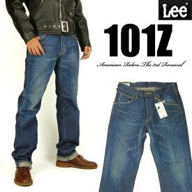 Lee リー メンズ ジーンズ 101Z ストレート 中濃色ブルー Lee RIDERS AMERICAN RIDERS 日本製 LM5101-546