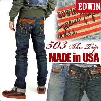 503 EDWIN (Edwin) BLUE TRIP/MADE IN USA レギュラーナロー BT03NR