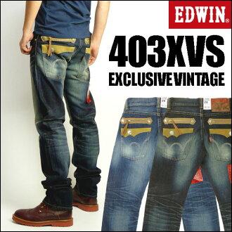 EDWIN (Edwin) 403 XVS TAPERED ZIP MODEL / model tapered zip-EXCLUSIVE VINTAGE-483 XVS