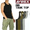 AVIREX アビレックス リブ タンクトップ デイリーウエア メンズ 618363 6143503