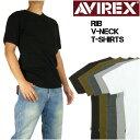 AVIREX (アビレックス) 半袖VネックTシャツ -リブ素材- 617351/6143501 【smtb-k】【ky】【楽ギフ_包装】プレゼント…