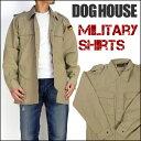 【スマホエントリーでPT10倍! 4/29(土)09:59迄】DOG HOUSE (ドッグハウス) MILITARY SHIRTS/ミリタリーシャツ 50020...