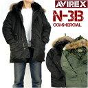 AVIREX アビレックス メンズ N-3B N-3B フライトジャケット COMMERCIAL リアルファー仕様 ミリタリー 6152145