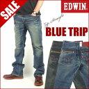 【41%OFFセール】 エドウィン EDWIN BLUE TRIP/ジップポケット ストレッチ レギュラーストレート ジーンズ EB0001 【…