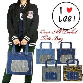 Lee (リー) デニム オーバーオールポケットトートバッグ -男女兼用- 0420864/QPER60
