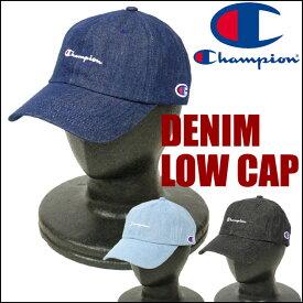 Champion チャンピオン ミニ刺繍 デニム ローキャップ ベースボールキャップ 帽子 381-0136 メンズ レディース プレゼント ギフト