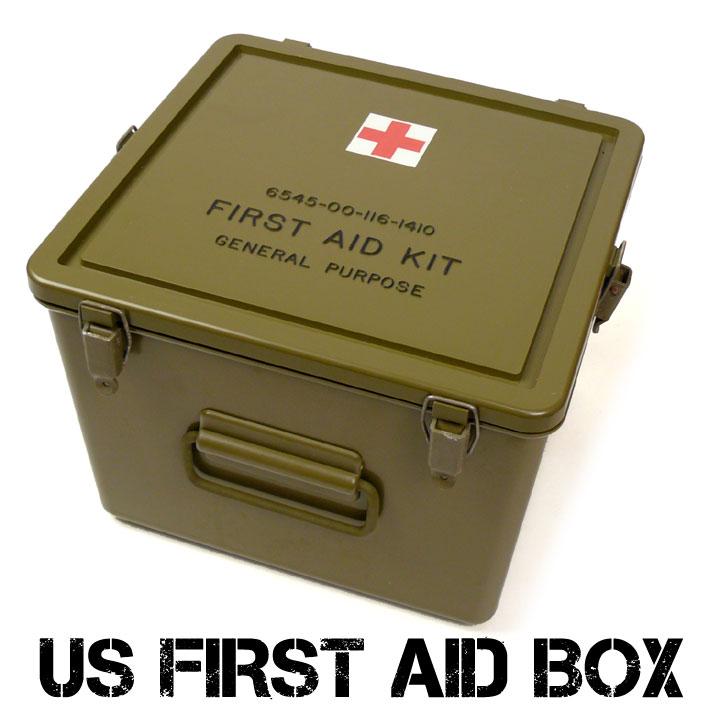 US メディカル プラスティック ボックス FIRST AID BOX ファーストエイドボックス 米軍放出 デッドストック 救急箱 ミリタリーボックス UD-1ST