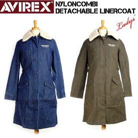 セール AVIREX アビレックス レディース 3WAY ボアミリタリーコート NYLON COMBI DETACHABLE LINER COAT 6272050