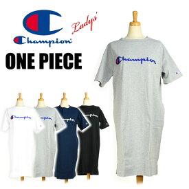 セール Champion チャンピオン レディース ロゴ刺繍 ワンピース 半袖 ロングTシャツ CW-P308