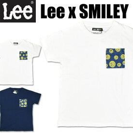 セール Lee x SMILEY リー スマイリー デニムポケット プリント 半袖Tシャツ メンズ レディース ユニセックス LS7399